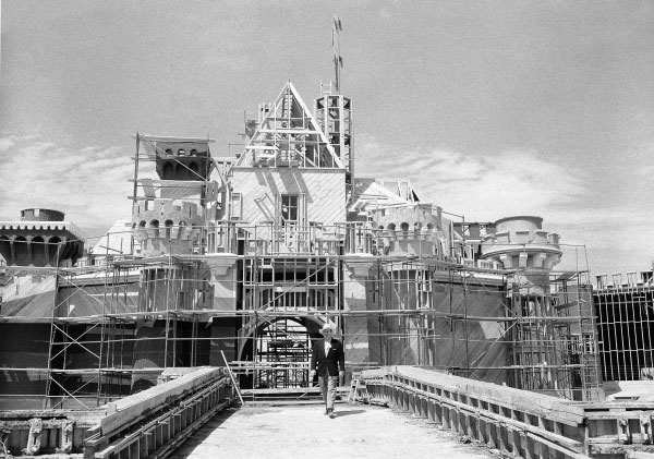 Disneyland castle construction