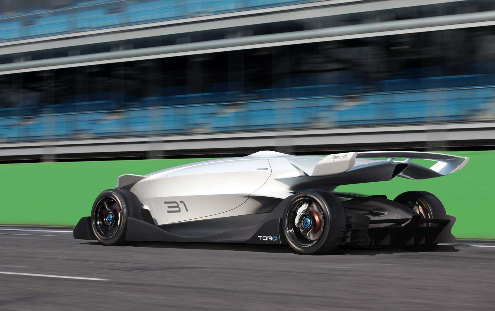 the ed torq driverless race car is both beauty and beast