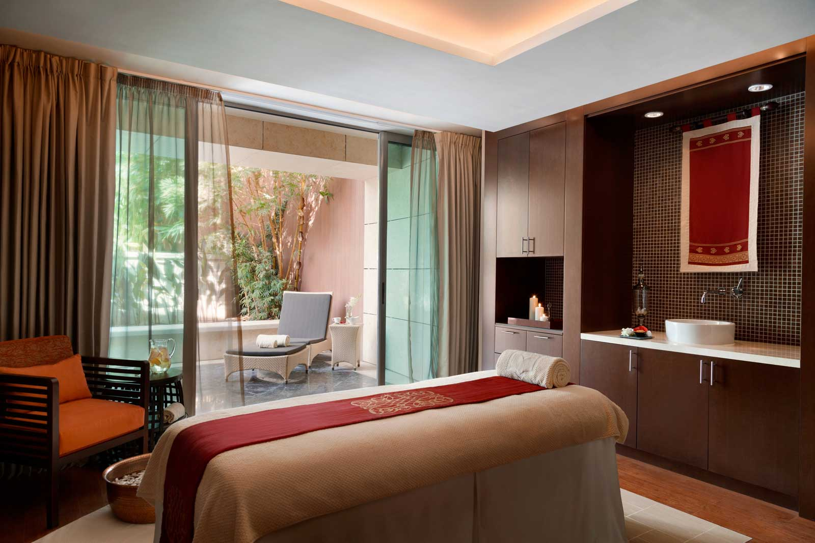 One of the spa rooms at the new Shangri-La, Doha