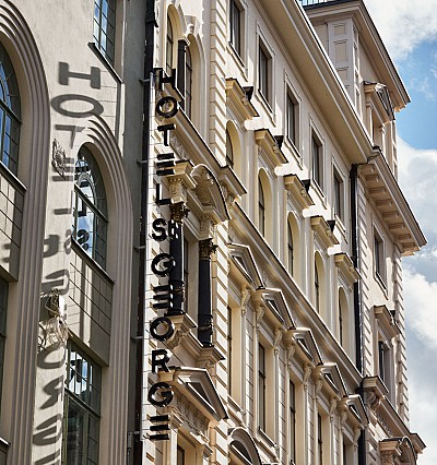 Helsinki's Hotel St. George places modern art in a historic building
