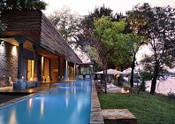Luxury living on the Zambezi River