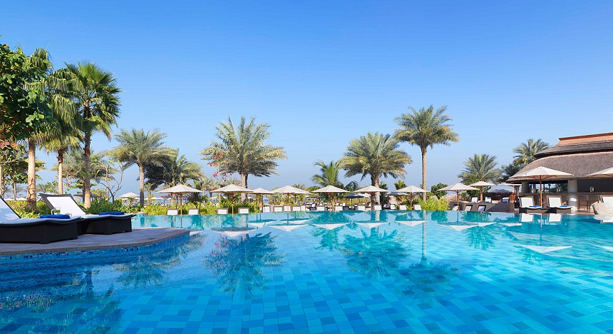 The Ritz-Carlton, Dubai, Habtoor Palace, LXR Hotels & Resorts, Silk Spa, The Spa at Address Boulevard, Dubai, Hilton Dubai Al Habtoor City, Dubai Polo & Equestrian Club, Raffles Dubai, Morimoto Dubai and Renaissance