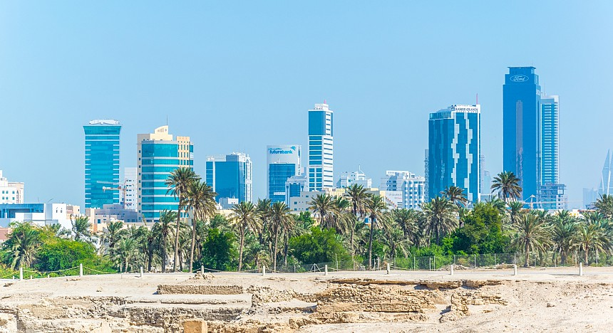 ruins and skylines in bahrain