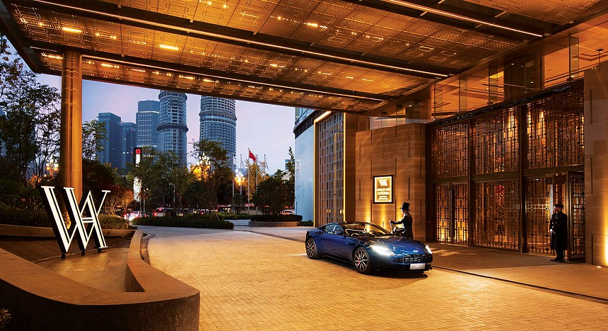 Aston martin, Waldorf Astoria Hotels & Resorts, luxury sports cars