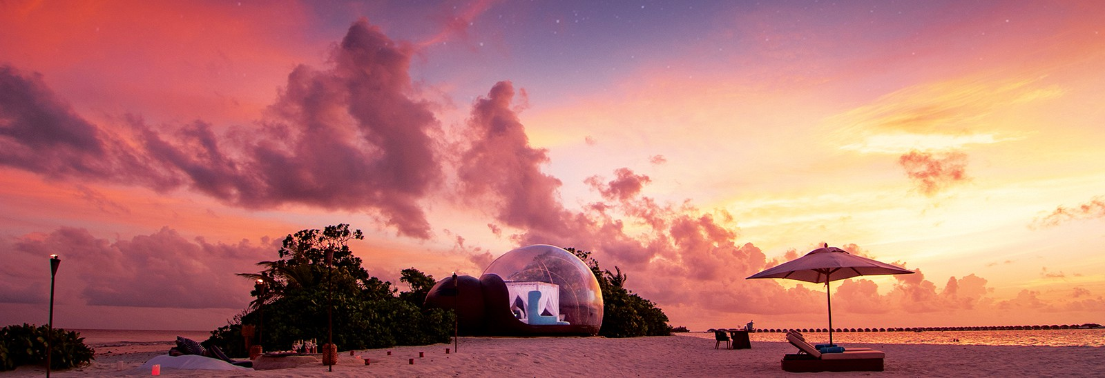 Life in a bubble: glamping arrives in the Maldives