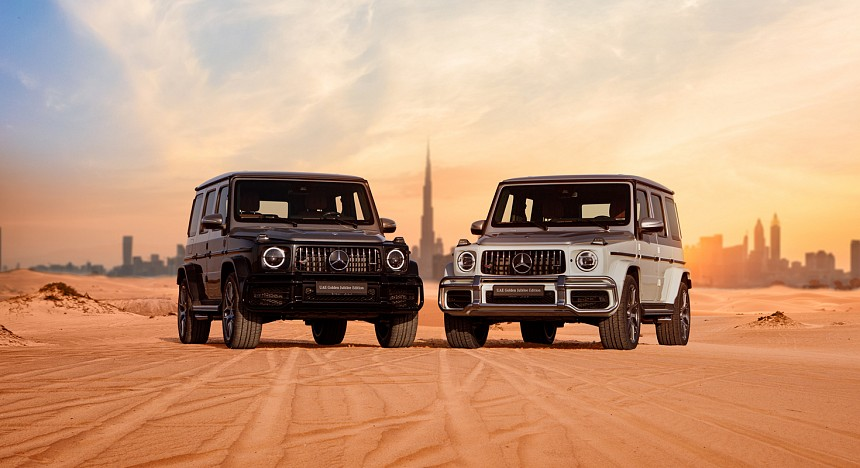 Mercedes-Benz, Gargash, UAE, Spirit of the Union, driving, luxury cars, supercars, desert, city, G-Class, G-Wagon, Golden Jubilee, limited edition, off-road