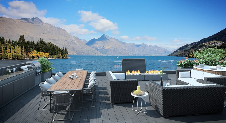 luxury lodge Lake Wakatipu