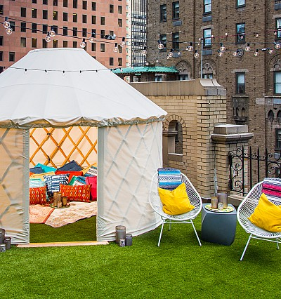 In pictures: W New York reveals rooftop glamping suite