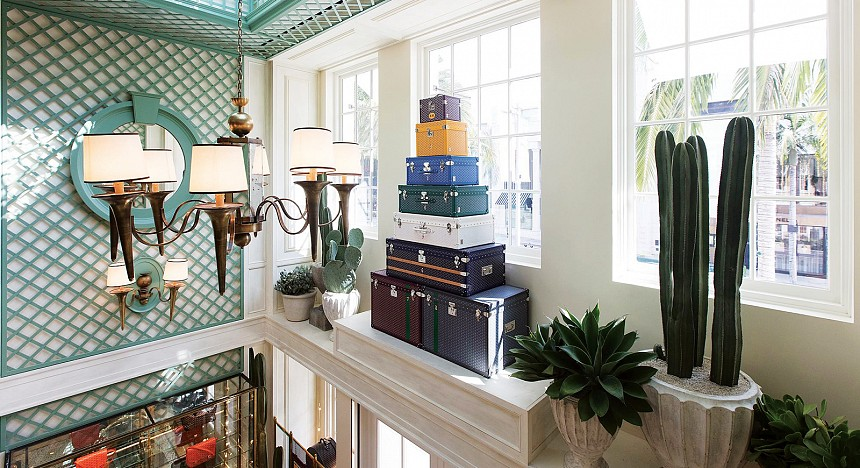 Maison Goyard's Paris-chic luggage boutique on Rodeo Drive