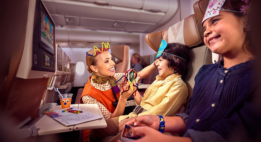 Etihad in-flight nanny