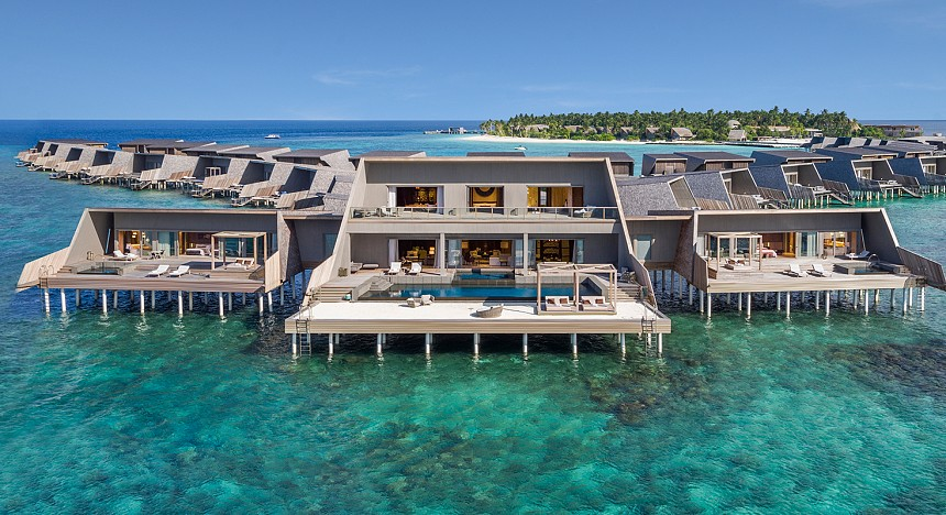The St. Regis Maldives Vommuli Resort, luxury resort in Maldives, beaches, maldives islands, travel, travellers, explore, villas, pool, spa, luxurious travel, luxury travel, hotels and resorts, marriott hotels and resorts maldives