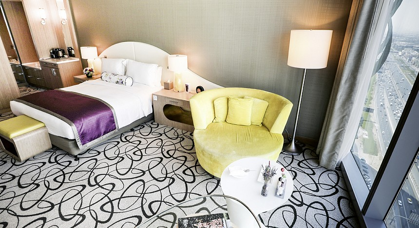 Sofitel Dubai Downtown, Female Guests, Girls, Prestige Suite, Junior Suite, Hotel, Bathroom, ladies-only, relaxing, stay
