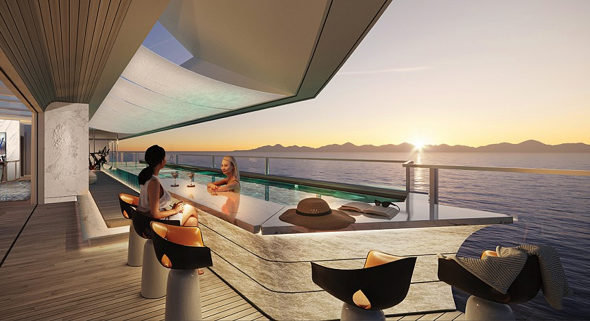 NJORD Ocean Residences, Design hotels, superyachts, most expensive superyacht, luxury yacht, travellers, experience, sea travel, luxury travel news magazine