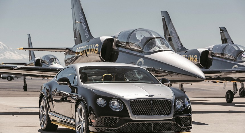 The Bentley Continental GT Speed Breitling Jet Team Series