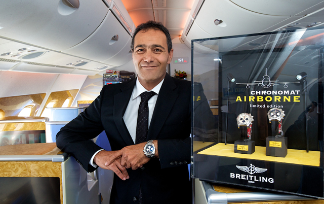 Breitling Chronomat Airborne on board an Emirates A380