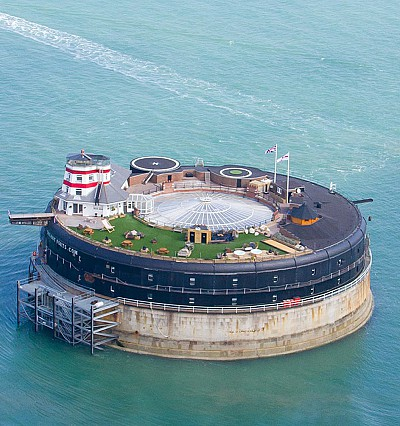 This British sea fort has just opened as a boutique hotel