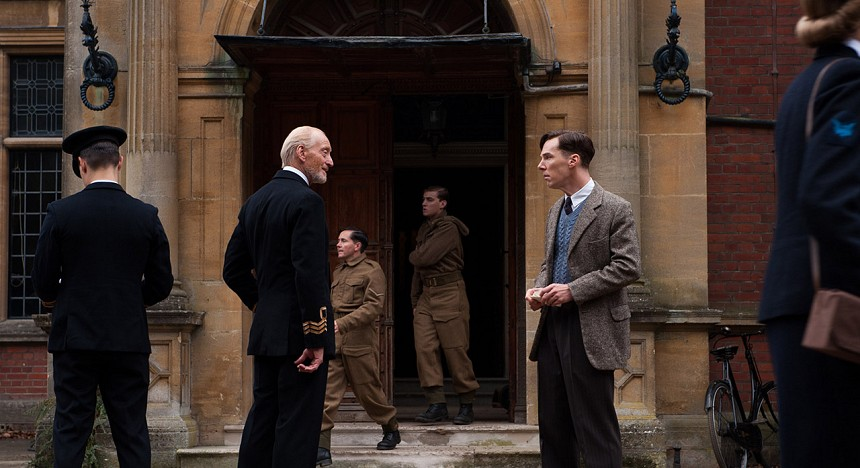 Benedict Cumberbatch in The Imitation Game; a dramatic retelling of Cambridge mathematics alumnus Alan Turing's role in aiding Allied efforts in World War Two