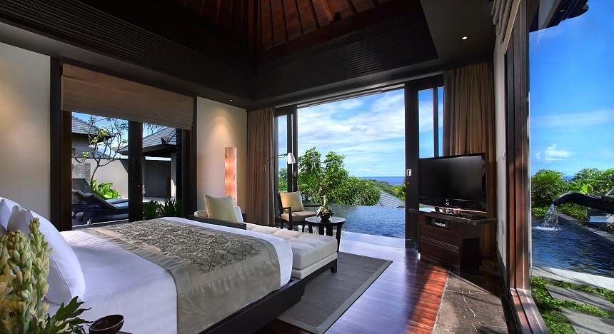 A view from the ocean villa suite at Banyan Tree Ungasan