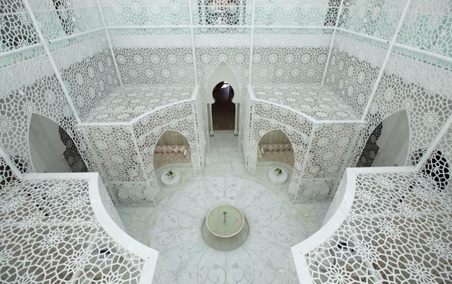 Atrium at Royal Mansour Marrakech's ornate spa