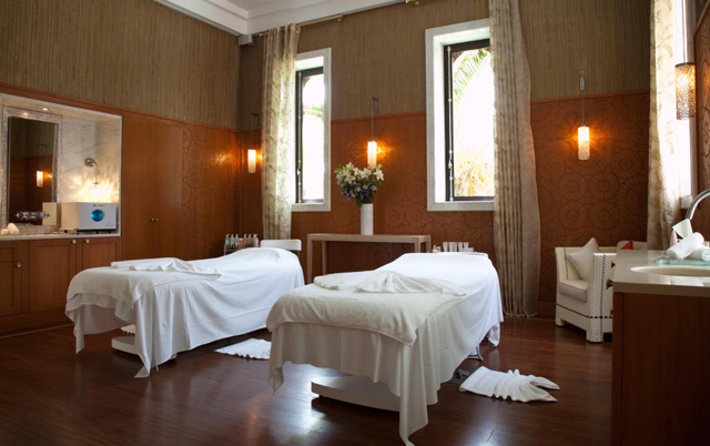 Couple's private treatment room