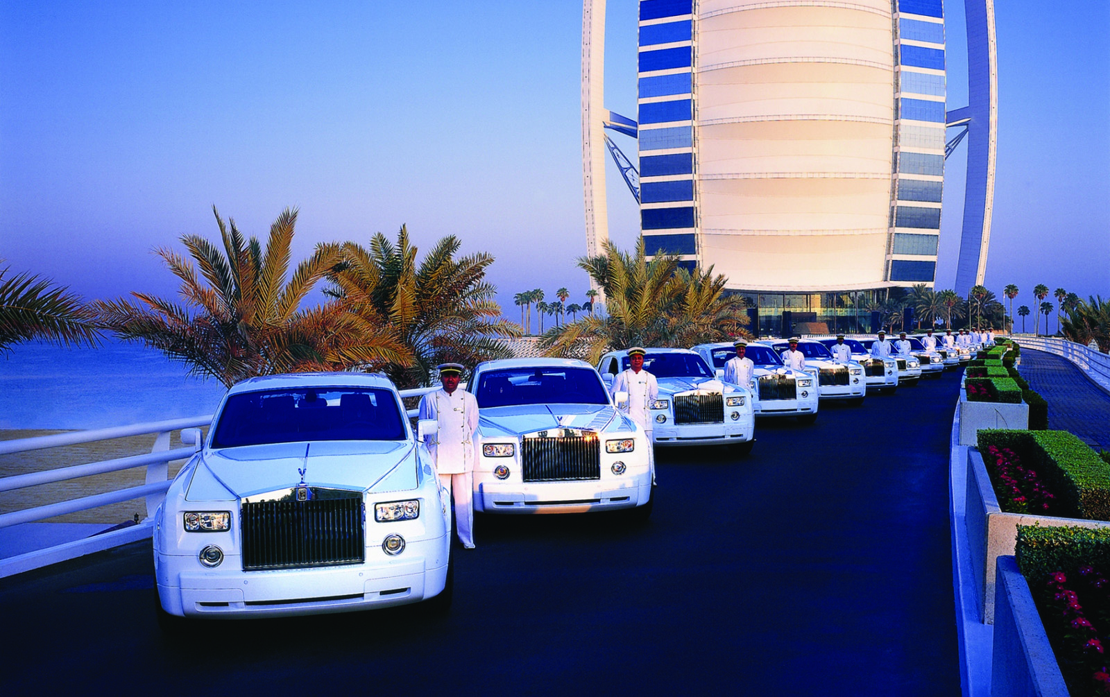 Burj al arab unveils four new bespoke rolls royces for The expensive hotel in dubai